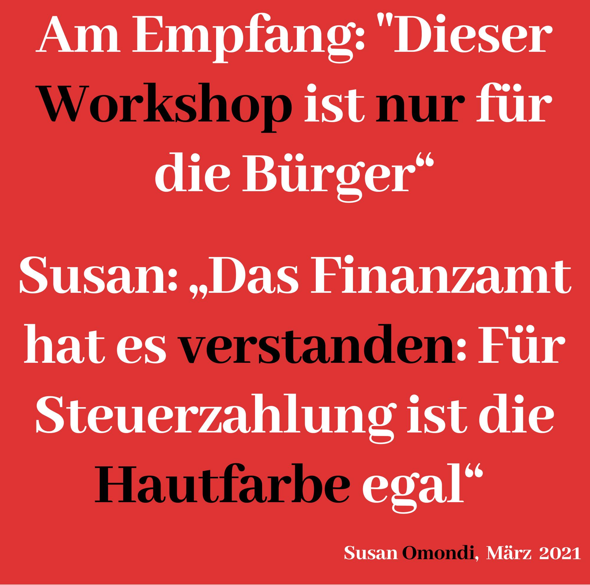 """Read more about the article """"DER WORKSHOP IS NUR FÜR DIE BÜRGER"""""""